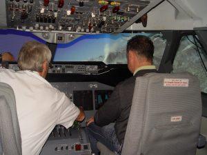 On The Flight Simulator Deck