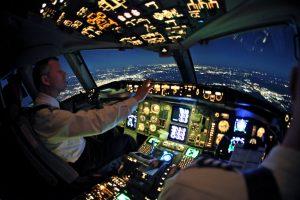 Airbus flight deck